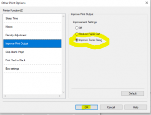 Brother Printer Toner Settings