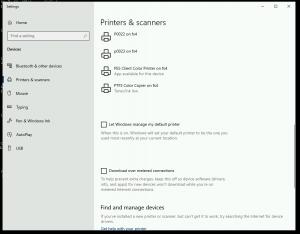 De-select Let Windows manage my default printer